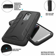 ZTE AXON 7 POETIC Revolution Shockproof Rugged Protection TPU Case Black (2016)