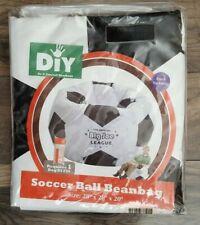 "DIY Beanbag Soccer Bean Bag Cover Kid's Vinyl 28"" x 28"" x 20"""