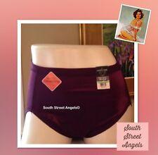 VANITY FAIR 13137  ~ MYSTIC BERRY  ~ Body Caress SATIN Hi-Cut Panties  ~ XL / 8