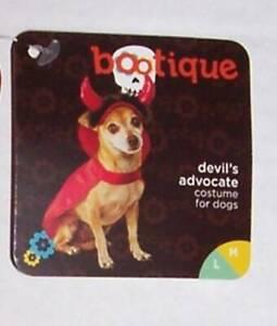 Petco Bootique Devil Dog Costume Cape Horns Med/Large Halloween