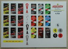 Ferrari Finali Mondiali Mugello 2017 Pass Panel Eintrittskarte no brochure press