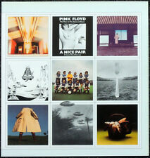 PINK FLOYD POSTER PAGE . 1973 A NICE PAIR LP ALBUM COVER ART . M34