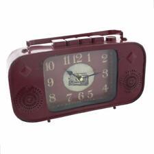 Old Fashioned Vintage Retro Radio Mantle Clock Ornament W2757