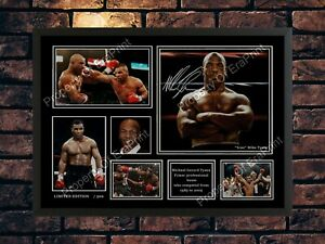 NEW MIKE TYSON SIGNED MEMORABILIA LIMITED EDITION PHOTO A4 AUTOGRAPH PRINT