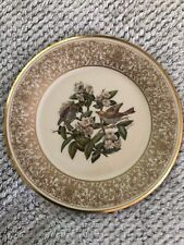 Lenox Wood Thrush Round Collector Plate Boehm Birds with Wall hanger