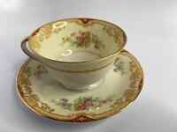 Noritake China Japan 653 Topaze Tea Cup & Saucer GREAT SHAPE