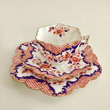 Wileman teacup trio, Japan pattern on Daisy shape, 1899, A/F