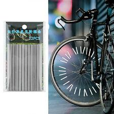 12x Bicycle Wheel Spoke Reflector Reflective Mount Clip Tube Bike Warning Str P1