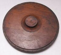 "Lamson Industrial Foundry Wood ~12"" C.L Machine Round Mold Pattern Steampunk M57"