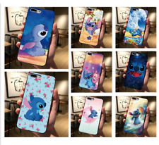 COVER SILICONE Iphone 6s 7 8 Plus X Xs XR Max- Disney Stitch Lilo ohana famiglia