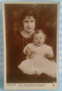 Tuck's R.P. Postcard, H.R.H.The Duchess Of York With Princess Elizabeth.