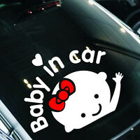 """Baby In Car"" Waving Baby on Board Safety Sign Car Decal / Sticker"