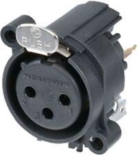 Neutrik XLR Panel-mount female 3 receptacle A Vertical/PCB Mounting black
