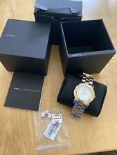 Marc by Marc Jacobs Ladies Two Tone Watch. White dial. MBM3139 Excellent