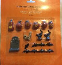Department 56 Dept  Halloween Yard Decoration 22 piece set Bat Black Cat Pumpkin