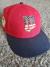 Minnesota Twins New Era Low Profile Fitted Hat Size 7 3/4s - 4th of July Edition
