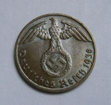 Germany, Third Reich 1 Reichspfennig 1938 (J), WW2, NAZI, Swastika, WWII
