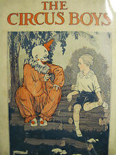 Frank Gordon Oliver THE CIRCUS BOYS with dustjacket  WHITMAN CHICAGO 1919 1st