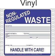 Non-Regulated Waste Vinyl Labels HWL255V (PACK OF 500)