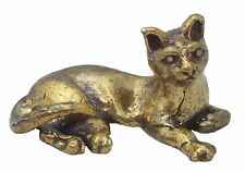 Brass cat miniature animals ornaments bronze cats chat en laiton Messing katze