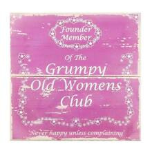 Grumpy Old Womens Club Wooden Sign- Fun hanging wall plaque - Gift for Women