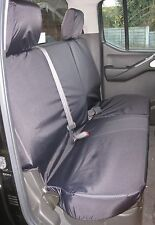 imperméable & SUR MESURE siège arrière Noir Housse de pour Nissan Navara