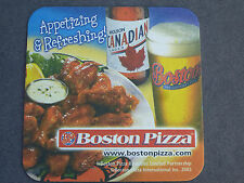 2003 Beer Pub Coaster <> MOLSON Canadian Lager + Boston Pizza & Appetizing Wings