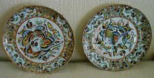 """EXPORT PORCELAIN BUTTERFLY PLATES ...CHINESE, VERY EARLY. (PAIR) APPX 8 """""""
