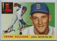 Frank Sullivan Red Sox 1955 Topps Baseball Card #106 white back; NrMt