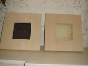 Two Natural Stone Square Picture Photo Frames Bali Indonesia