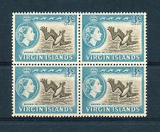 BRITISH VIRGIN ISLANDS 1964 DEFINITIVES SG180 3c (BIRD) BLOCK OF 4 MNH