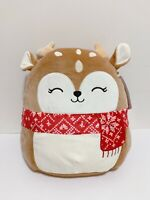 "Kellytoy Squishmallow 2020 Christmas Collection Dawn the Fawn 8"" Plush Doll"