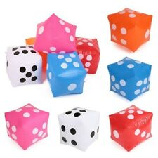 1*Inflatable Dice in Blue Novelty Garden Outdoor Family Game Beach Toy Party Am8