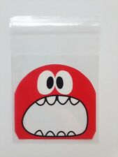 x25 HALLOWEEN MONSTER Cellophane Bags: party, craft, sweets, candy, cookie bags