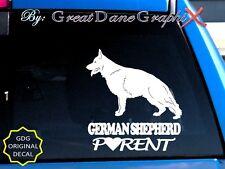German Shepherd PARENT(S) #2 - Vinyl Decal Sticker / Color Choice - HIGH QUALITY
