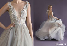 Paolo Sebastian Prom Dresses Princess V Neck Spaghetti Straps A Line Party Gowns