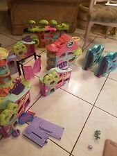 Huge Set of 9 littlest Pet Shop Playsets awesome condition Big Sets plus EXTRAS!