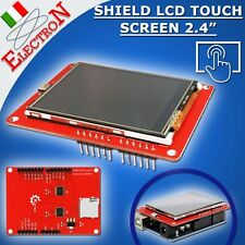"Modulo Shield Display LCD a colori 240x320 2,4"" TFT con touch screen Arduino"