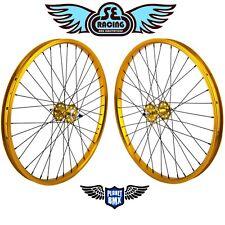 "SE Racing 26"" X 1.75"" BMX Bearing Wheelset PK Ripper OM Flyer Gold"