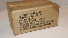 US  WW 2 . M 1 Carbine Slide Operating  Marked : SG   NOS.Unused