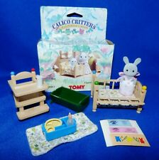 1985 TOMY CALICO CRITTERS CLOVERDALE CORNERS 11-PC BABY NURSERY ROOM FURNITURE