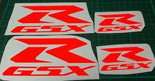 6  X  FLUORESCENT ORANGE   SUZUKI GSX-R   VINYL DECAL STICKERS