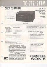 Sony tc-818m tc-717/717m service manual istruzioni b1786
