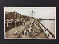 Vintage Postcard: Lancs: Blackpool #T87: Three Promenades: Posted 1933