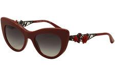 Dolce & Gabbana Women's D&G DG4302B 4302-B 3088/8G Red Rose Sunglasses 50mm