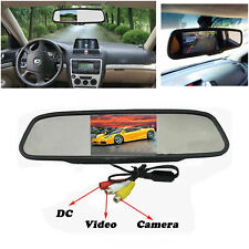 "Coche 4.3""Color TFT LCD Espejo Monitor Auto Reversa Cámara de visión trasera DVD"
