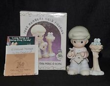 """PRECIOUS MOMENTS """"ONLY LOVE CAN MAKE A HOME""""  PM921-NIB- MEMBER"""