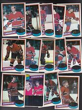 1980 / 81 Topps Team SET lot of 14 Montreal CANADIENS NM+ LAFLEUR LAROUCHE Larry