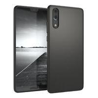 Für Huawei P20 Hülle Soft Case Silikon Cover Schutz Tasche Slim Matt Schwarz