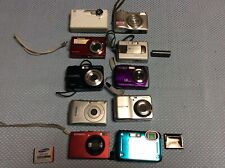 Lot of 10 Point & Shoot Digital Cameras Nikon Canon & Other   - NOT Tested AS IS